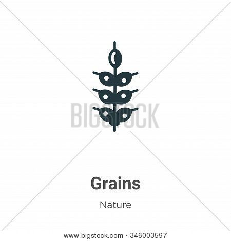 Grains icon isolated on white background from nature collection. Grains icon trendy and modern Grain