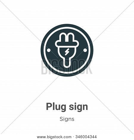 Plug sign icon isolated on white background from signs collection. Plug sign icon trendy and modern