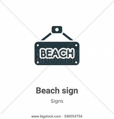 Beach sign icon isolated on white background from signs collection. Beach sign icon trendy and moder