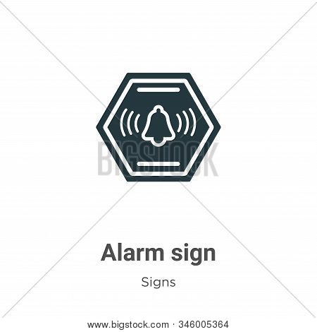 Alarm sign icon isolated on white background from signs collection. Alarm sign icon trendy and moder