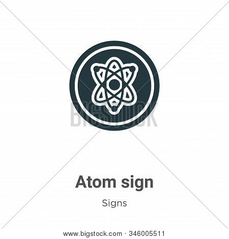 Atom sign icon isolated on white background from signs collection. Atom sign icon trendy and modern