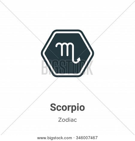 Scorpio icon isolated on white background from zodiac collection. Scorpio icon trendy and modern Sco