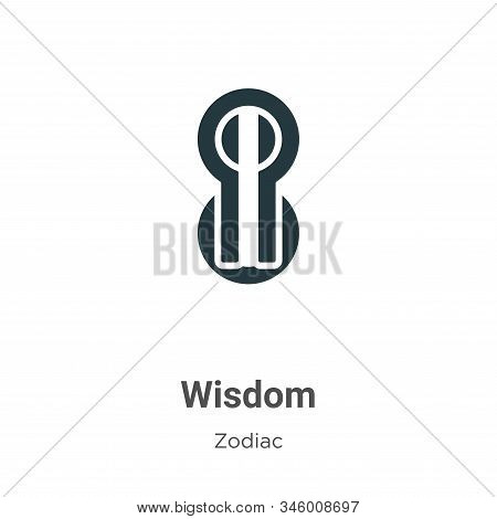 Wisdom Vector Icon On White Background. Flat Vector Wisdom Icon Symbol Sign From Modern Zodiac Colle