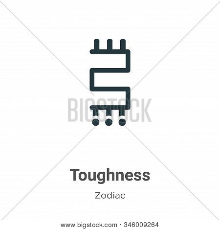 Toughness Vector Icon On White Background. Flat Vector Toughness Icon Symbol Sign From Modern Zodiac