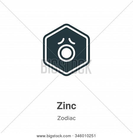Zinc icon isolated on white background from zodiac collection. Zinc icon trendy and modern Zinc symb