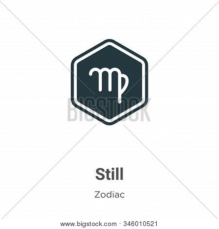 Still icon isolated on white background from zodiac collection. Still icon trendy and modern Still s