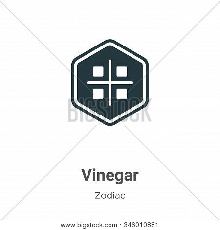 Vinegar icon isolated on white background from zodiac collection. Vinegar icon trendy and modern Vin