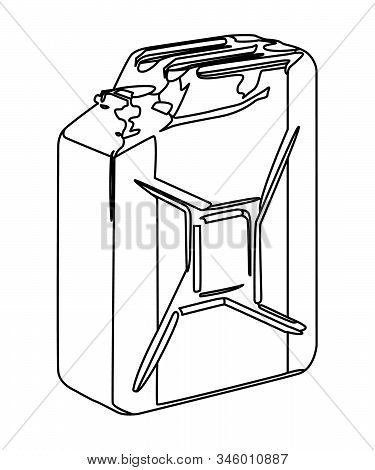 Jerry Can Contour Vector Illustration No Background