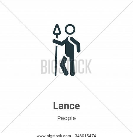 Lance icon isolated on white background from people collection. Lance icon trendy and modern Lance s