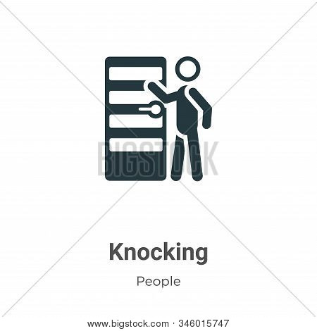 Knocking Vector Icon On White Background. Flat Vector Knocking Icon Symbol Sign From Modern People C