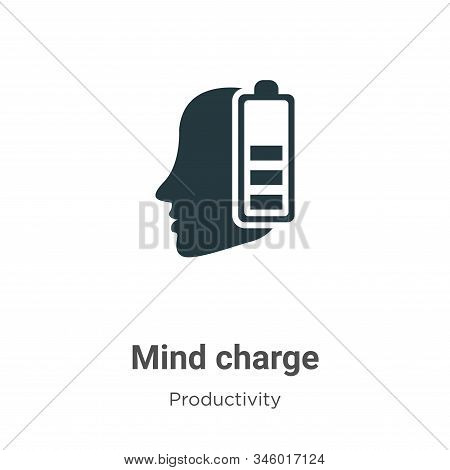 Mind charge icon isolated on white background from productivity collection. Mind charge icon trendy