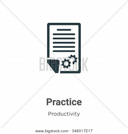 Practice icon isolated on white background from productivity collection. Practice icon trendy and mo