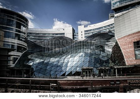 Warsaw, Poland - 14 August 2008: Golden Terraces Shopping Mall In City Center Of Warsaw. The Newest