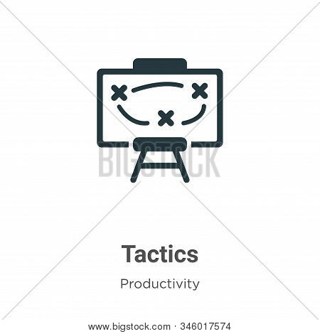 Tactics Vector Icon On White Background. Flat Vector Tactics Icon Symbol Sign From Modern Productivi