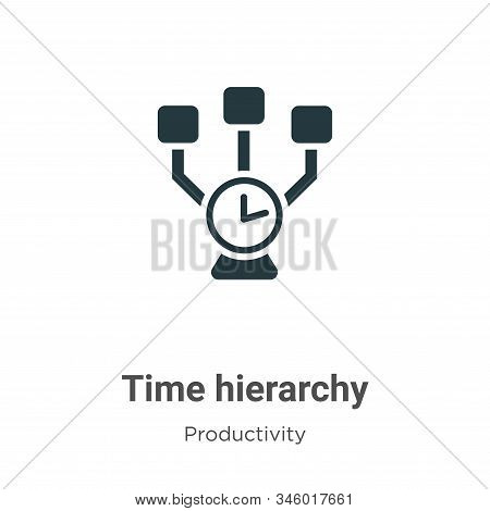 Time hierarchy icon isolated on white background from productivity collection. Time hierarchy icon t