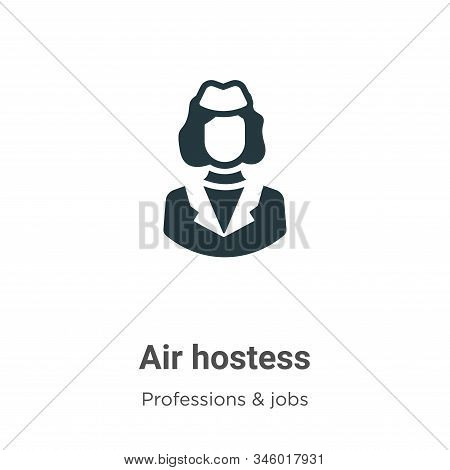 Air hostess icon isolated on white background from professions collection. Air hostess icon trendy a