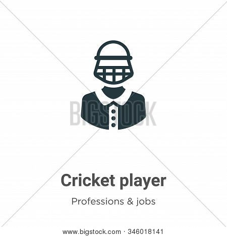Cricket player icon isolated on white background from professions collection. Cricket player icon tr