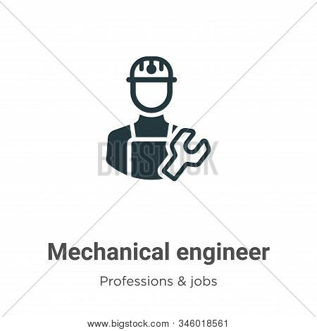 Mechanical engineer icon isolated on white background from professions collection. Mechanical engine