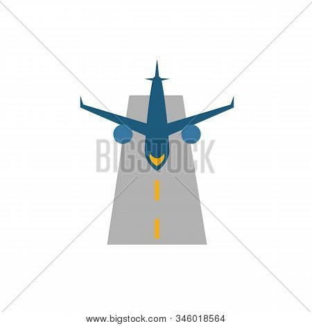 Runway Icon. Flat Creative Element From Airport Icons Collection. Colored Runway Icon For Templates,