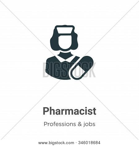 Pharmacist Vector Icon On White Background. Flat Vector Pharmacist Icon Symbol Sign From Modern Prof
