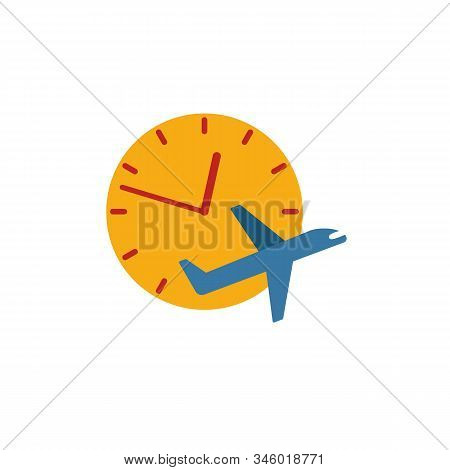 Flight Delayed Icon. Flat Creative Element From Airport Icons Collection. Colored Flight Delayed Ico