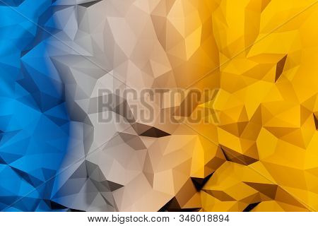 Repeat Geometric Triangle Mosaic Color Gradient, Visualization 3D Render Abstraction Pattern, Nice B