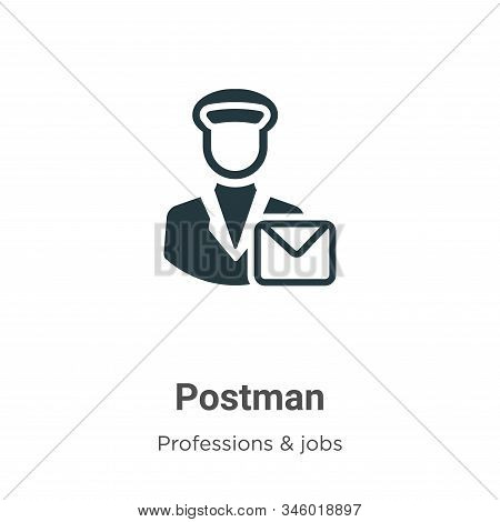 Postman icon isolated on white background from professions collection. Postman icon trendy and moder