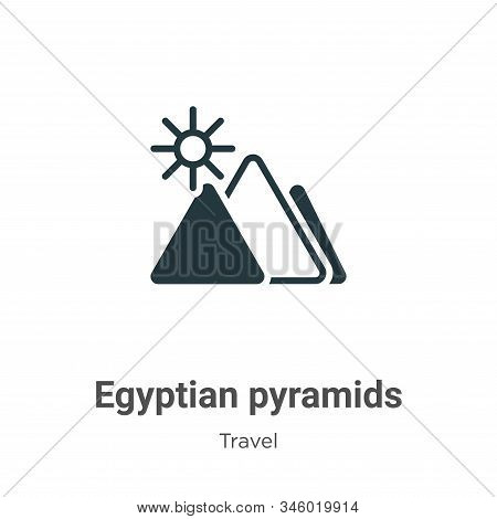 Egyptian pyramids icon isolated on white background from travel collection. Egyptian pyramids icon t