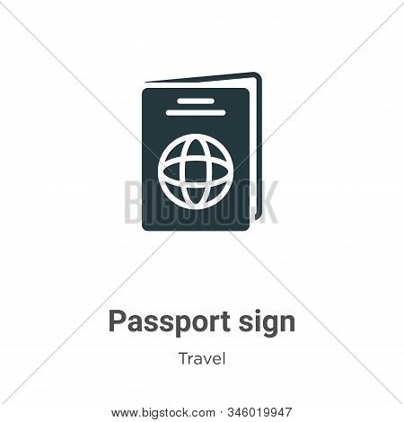 Passport sign icon isolated on white background from travel collection. Passport sign icon trendy an