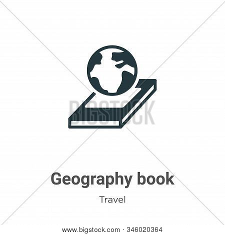 Geography Book Vector Icon On White Background. Flat Vector Geography Book Icon Symbol Sign From Mod