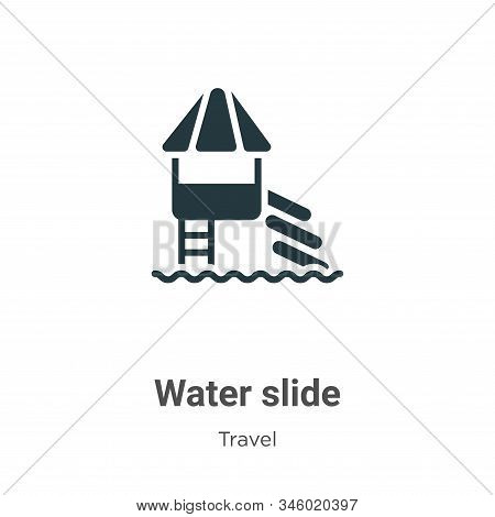 Water slide icon isolated on white background from travel collection. Water slide icon trendy and mo