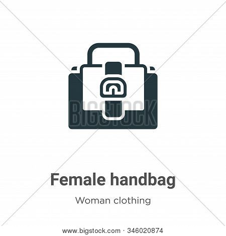 Female handbag icon isolated on white background from woman clothing collection. Female handbag icon