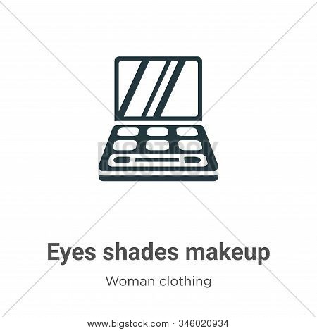 Eyes shades makeup icon isolated on white background from woman clothing collection. Eyes shades mak