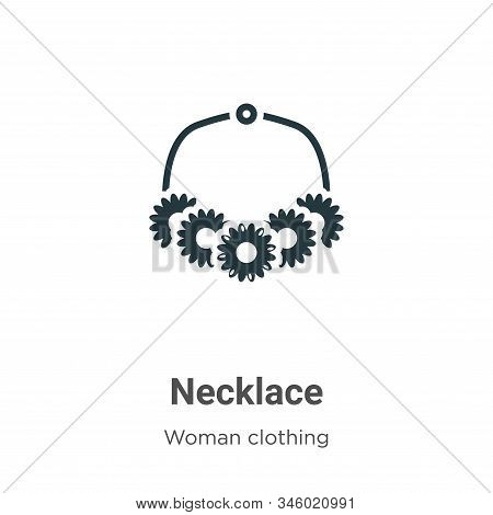 Necklace icon isolated on white background from woman clothing collection. Necklace icon trendy and