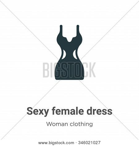 Sexy Female Dress Vector Icon On White Background. Flat Vector Sexy Female Dress Icon Symbol Sign Fr
