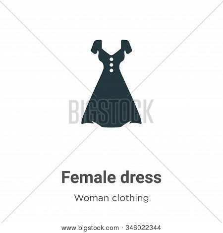 Female dress icon isolated on white background from woman clothing collection. Female dress icon tre