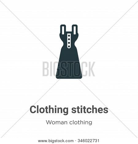Clothing Stitches Vector Icon On White Background. Flat Vector Clothing Stitches Icon Symbol Sign Fr