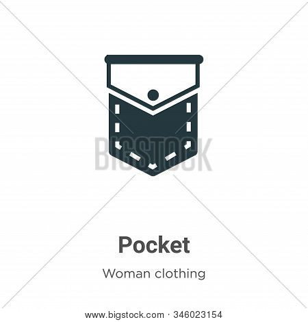 Pocket icon isolated on white background from woman clothing collection. Pocket icon trendy and mode
