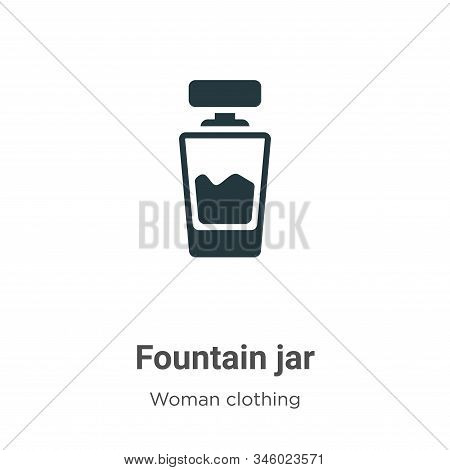Fountain jar icon isolated on white background from woman clothing collection. Fountain jar icon tre