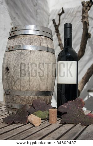 bottle of wine and cask wine