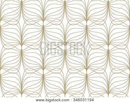 Abstract Wavy Lines Seamless Pattern. Geometric Pattern For Clothes And Wallpapers.