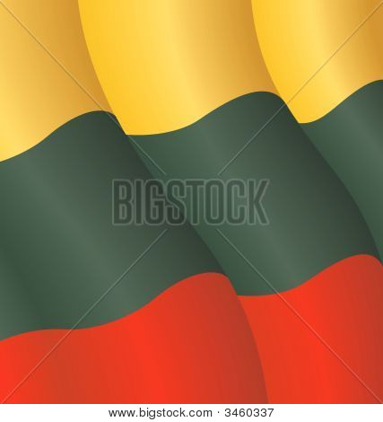 Vector illustration of the flag of Lithuania poster