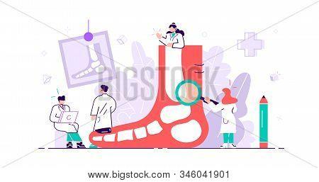 Podiatrist Concept. Feet Toe Trauma, Pathology And Illness Discomfort Treatment With Examination, Su