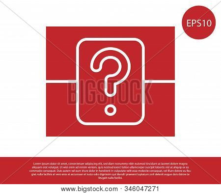Red Mystery Box Or Random Loot Box For Games Icon Isolated On White Background. Question Box. Vector