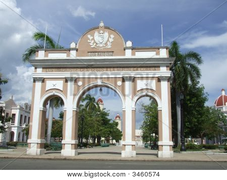 Beautiful Arch In Cienfuegos Central Square