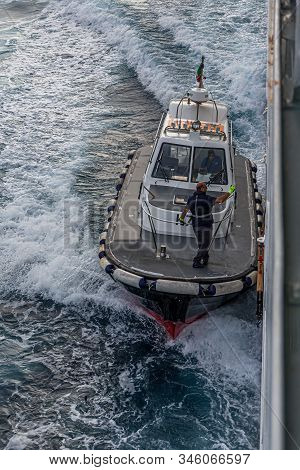 Fort Lauderdale, Florida - December 4, 2015: A Pilot Boat Is Used To Transport Maritime Pilots Betwe