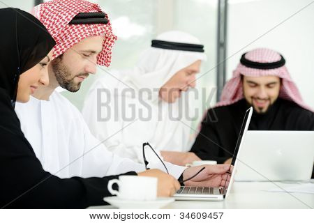 Arabic business people at work ,teamwork
