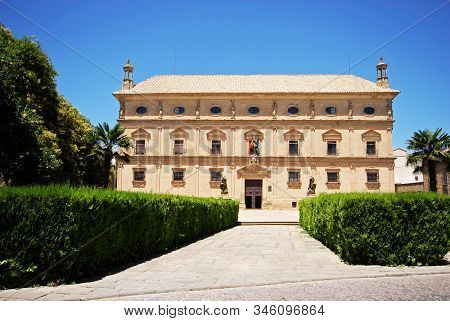 Front View Of The Town Hall Housed In The Palacio De Las Cadenas (chains Palace), Ubeda, Andalucia,