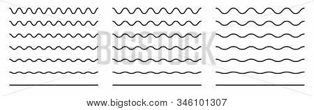 Wiggly Squiggle Lines. Wiggle Waves Set. Wavy Vector Line.