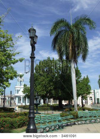 Green Seats In Cienfuegos Central Park
